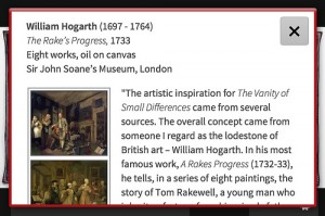App, detail, showing more extensive background information on Hogarth