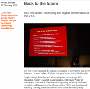 Decoding the Digital Conference at V&A Day Two