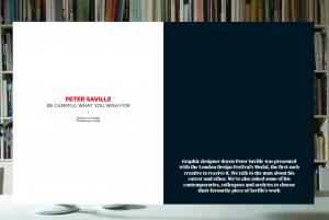Peter Saville Blueprint spread
