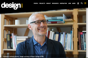 Anthony Dunne on Design Week website