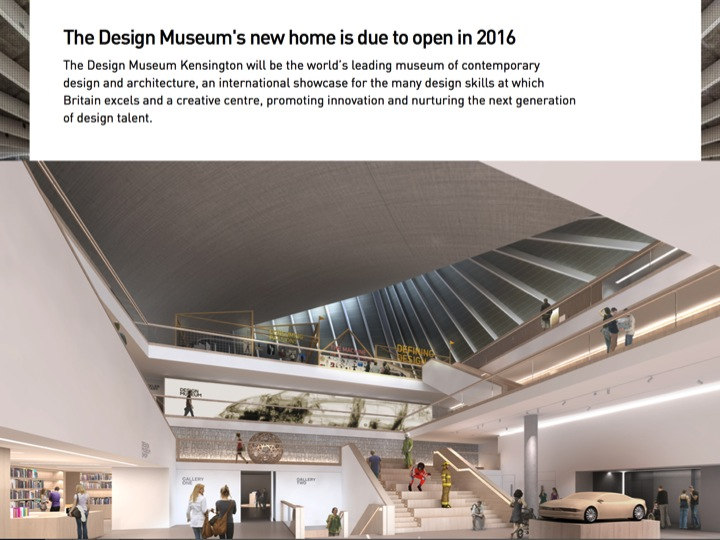 Screen-grab from the Design Museum's website, showing a rendering of the interior of the new museum, designed by John Pawson.