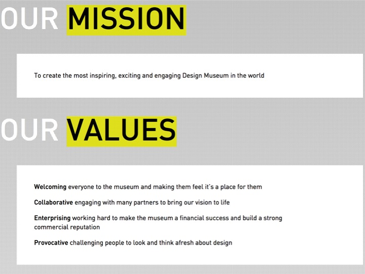 Definition of Design includes; Vision, Mission, Values.