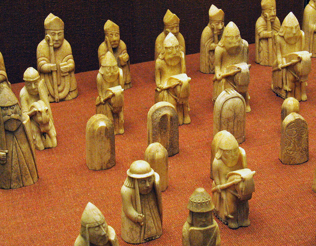 Teamwork and Strategy in the Museum... Lewis Chessmen, Scotland, 12th-Century, British Museum. Photograph by Andrew Dunn. Sourced from WikiCommons/Creative Commons.