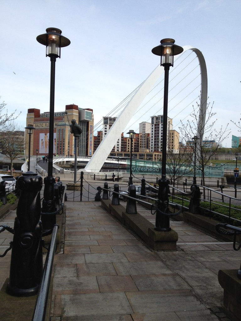 Looking towards Gateshead's Baltic from Newcastle's quayside.
