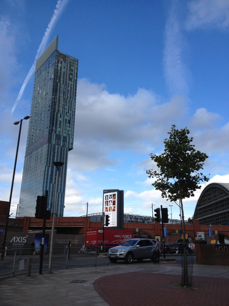 Beetham Tower, home to Hilton Deansgate, is the 11th tallest building in the UK, a potent symbol of Manchester's regeneration.