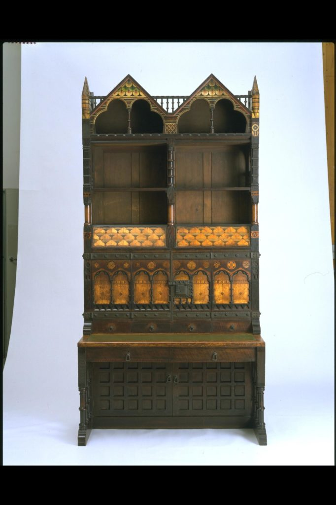 From the V&A's Search the Collections website, using the keyword 'Circ'. Cabinet, made in 1861 by Richard Norman Shaw. CIRC.96.1 to 12-1963. (Accessioned by the Circulation Department in 1963). ©Victoria and Albert Museum, London