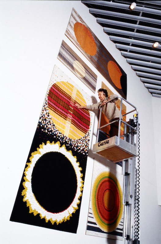 Aspects of the Sun silk mosaic, Lucienne Day, 1990: The Robin and Lucienne Day Foundation and archive.