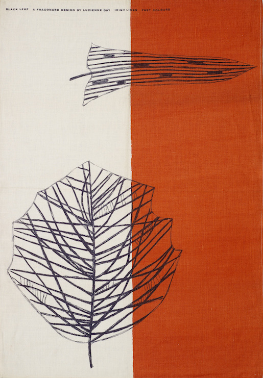 Black Leaf tea towel, Lucienne Day, Thomas Somerset & Co, 1959: The Robin and Lucienne Day Foundation and archive.